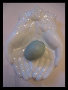 victorian hands vintage white milk glass dish tray by 4WitsEnd, $18.00
