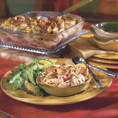 Chicken Cobbler Casserole Buttery cubes of sourdough rolls make a quick and crunchy topping for this speedy twist on chicken pot pie.