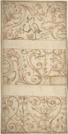Ornament design after the antique