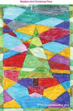 Modern Art Christmas Tree