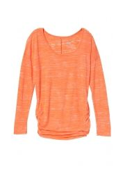 creamsicle cinched side long sleeve burnout plus size tee - maurices.com