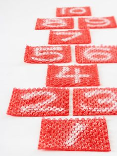 Bubble wrap hopscotch - Re-pinned by #PediaStaff. Visit http://ht.ly/63sNt for all our pediatric therapy pins