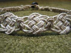 Hemp necklace with pretzel knot center