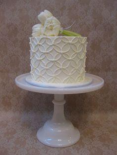 Soft white buttercream wedding cakes