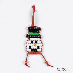 pony bead snowman pattern ... could probably use it as map for ear rings