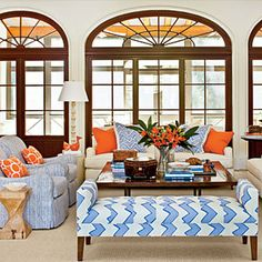 96 Living Room Decorating Ideas | Mix Up the Seating | SouthernLiving.com