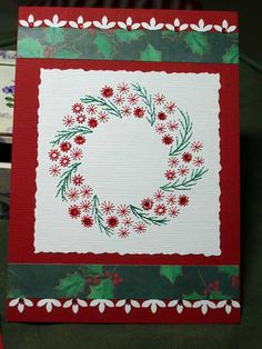 christma card, hand embroidery, paper embroideri, embroidered christmas cards, hand embroideri, paper embroidery christmas, wreath, blog, christmas paper