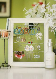 cute idea for storing jewelry.