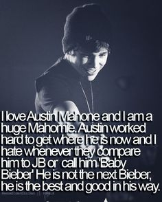 He's not the next Justin Bieber. He's the first Austin Mahone.