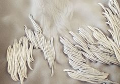 Embroidery on a double layer of chiffon (detail) by Ya-Pei Tseng.