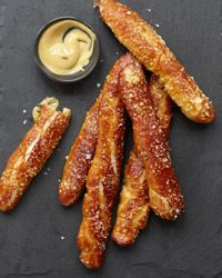 German Soft Pretzel Sticks  - Bar Snacks on Food  Wine
