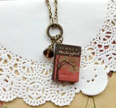 To Kill a Mockingbird mini book and charm by littleittybitty, $19.50
