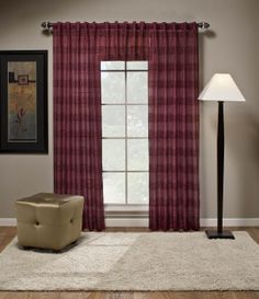 Gossamer semi sheer curtains with alternating tone on tone texture. Panels have unqiue back tabs for easy installation, matching valance also available.   #Tab #Top #Curtains #Swagsgalore