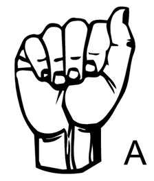 the letter A in sign language