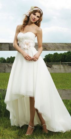 High Low Lace Wedding Dress