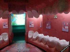 Dentist waiting room...creepy !