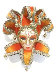 Miniature Ceramic Venetian Mask. Makes a great gift!    www.venicebuysmasks.com