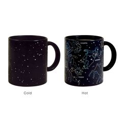 Constellation Mug -- the constellations come out when the mug is hot!