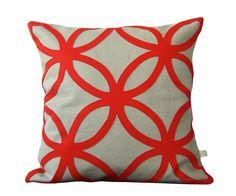 Mod Red DECORATIVE PILLOW - Geometric Felt Design - Home Decor by JillianReneDecor Interior Design Poppy Red Gift for Her - CIJ on Etsy, $110.00 interior design, design homes, felt, pillow obsess, decorative pillows, pillow covers, decor pillow, throw pillows