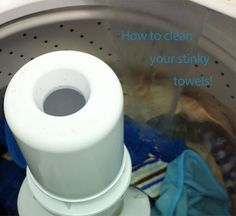 How to clean your stinky towels….