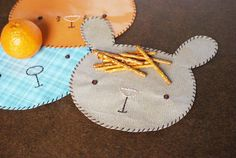 DIY Animal Snack Mats // bunny, kitty, puppy, bear // wild olive for hello bee