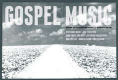 Gospel Music Poster, Design and Print by All Along Press