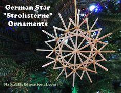 German Straw Star Ornaments | Naturally Educational