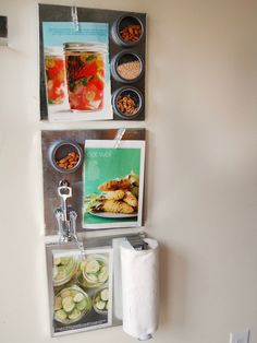 Magnetic Kitchen boards and shelves, DIY