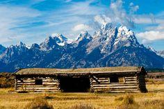 Settlers Cabin | Grand Tetons Settlers Cabin Photograph