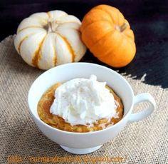 Pumpkin Caramel Mug Cake