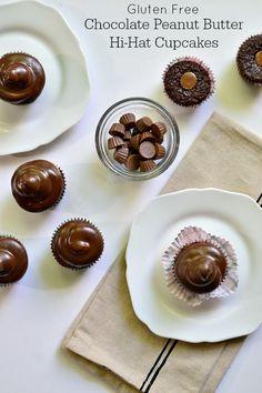 Chocolate Peanut Butter Hi-Hat Cupcakes {Gluten Free}
