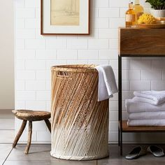 Dipped Basket - Laundry | west elm