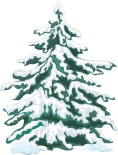 Winter Clip Art | Winter Evergreen Tree