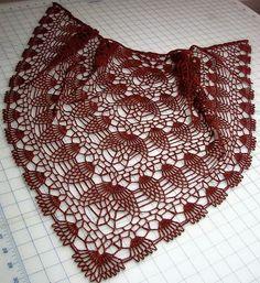 Crochet Shawls: Crochet Shawl Pattern - Pineapple Crochet Lace pineappl crochet, crocheted shawl patterns, crochet shawl pattern, pineappl lace, knit, yarn, design, crochet lace shawl pattern, chale