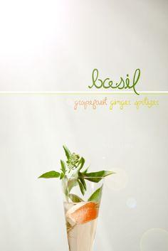 Ginger Basil Grapefruit Spritzer Recipe