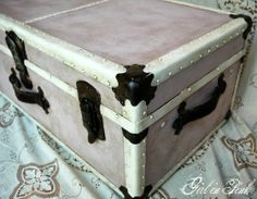 One Girl In Pink: Restyling and Repurposing Vintage Luggage