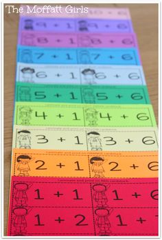 Organize your math facts flash cards by printing on colored paper and more ways to make learning FUN!