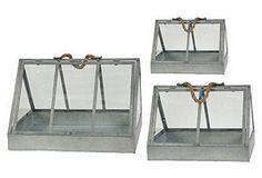 S/3 Triangular Glass Houses