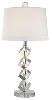 Stacked Cubes Crystal Vienna Full Spectrum Table Lamp @EuroStyleLighting #interior_design #table_lamp
