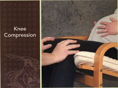 Knee Compression - Slight pressure together and mostly directed back toward hips helps back labor. This is a GOOD ONE!