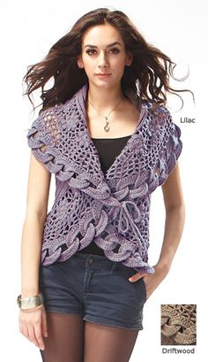 New for Spring - Crocheted Vest
