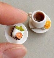 how to:make tiny cake, cup and saucer