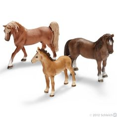 Animal figures by Schleich - Many toy stores have a good selection of Schleich figurines. There are wild and domesticated animals to choose from and LOTS of horses. They're usually about $5 - $8 each.