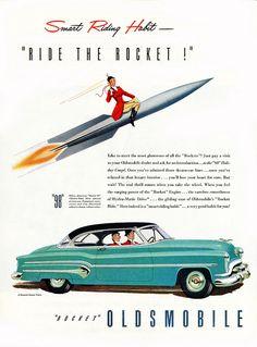 Rocket Oldsmobile - Ride the Rocket!   November 1951.