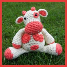 Cow free crochet pattern by A Bunch Of Buttons