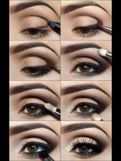 "How to: Smokey Eye Chart! ""Re-pin"" and ""Like"" if you love smokey eyes!"