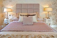 Soft fabric headboard squar, bedroom decorations, bedroom decorating ideas, pink rooms, happy colors, diy headboards, master bedrooms, bed linens, pink bedrooms