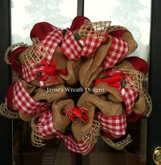 Crawfish Burlap Wreath