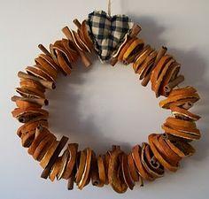 dried orange and cinnamon wreath