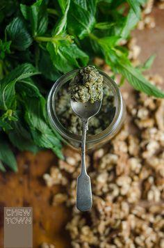 Mint and walnut pesto